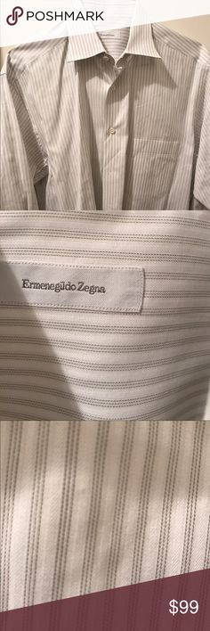 100% cotton shirt by Zegna Excellent condition no rips, tears or stains. Ermenegildo Zegna Shirts Dress Shirts