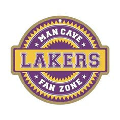 Los Angeles Lakers Man Cave Fan Zone Wood Sign SJT Enterprises http   www 5a00bcd03