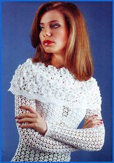 Ivelise Feito à Mão: Blusa Maravilhosa De Crochê