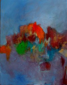 Abstract Expressionist Acrylic Painting by kerriblackmanfineart