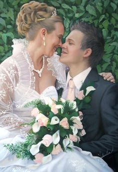PaintYourLife.com - Wedding Paintings are one of PaintYourLife's specialities. Professional artists turn your wedding photos into quality 100% handmade portrait paintings.