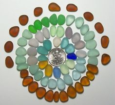 Eye candy! Small Jelly Beans (60+) Teal Vaseline Aqua etc Jewelry Quality Genuine Beach Sea Glass from Ft Bragg (A4) - pinned by pin4etsy.com