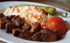 Calf Sish Kebab a fine Turkish dinner. Recipe and more: http://meatnmetal.com/calf-sish-kebab-and-couscous/ #food #foodporn #foodgasm #calf #beef #kebab #sish_kebab