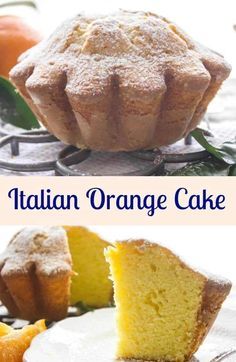 Italian Orange Cake a delicious, easy made from scratch Orange Cake. A healthy snack or dessert cake made with fresh oranges, greek yogurt and olive oil.