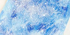 These mixed medium winter paintings are perfect for young toddlers as well as older preschoolers and kindergartners. Gorgeous winter process art for kids!