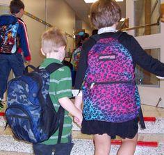 Myles starts kindergarten and Olivia Downing starts third grade at Grandview.