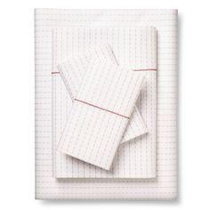 Brooklyn & Bond™ Poplar Dot Sheet Set Queen White&- Gray : Target