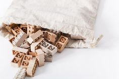 Wooden Lego pieces