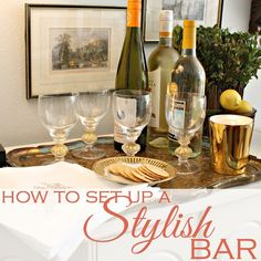 Entertaining season is almost in full swing. Here are a few tips on how to set up an inviting drinks station or bar.