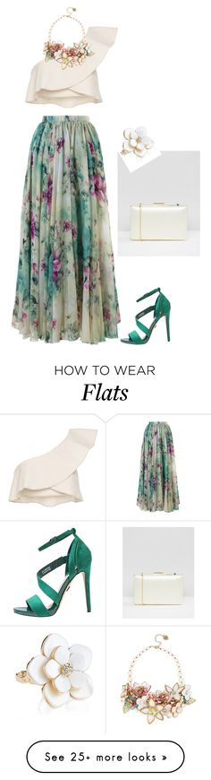 """floral skirt"" by natalyag on Polyvore featuring Chicwish, Isabel Marant, Betsey Johnson, ASOS and Accessorize"