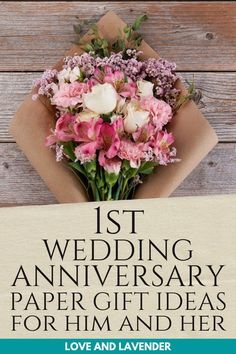 We've rounded up 1st-year anniversary gift ideas for both him and her that will make your better half feel extra special. Let that honeymoon period last a little longer! #weddinganniversary #weddinganniversarygifts #firstweddinganniversarygifts #firstanniversarypapergiftsideas #firstyearofmarriagegifts #paperanniversarygifts