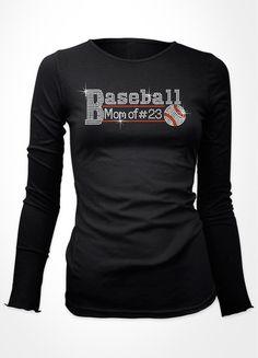 Baseball Mom of # baseball bling shirt
