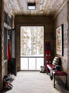 Chalet Design, The White Company, Chalet Interior, Interior Design, Ski Lodge Decor, Alpine Chalet, Cabin Interiors, Mudroom, Skiing
