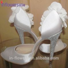 White Open Toe Satin Material Bridal Wedding Shoes - Buy Bridal Wedding Shoes,Wedding Shoes,Bridal Shoes Product on Alibaba.com