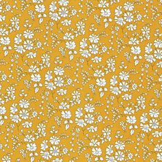 Liberty Tana Lawn Fabric Capel G Mustard- * PRE-ORDER * - Alice Caroline - Liberty fabric, patterns, kits and more - Liberty of London fabric online Liberty Art Fabrics, Liberty Of London Fabric, Liberty Print, Yellow Fabric, Floral Fabric, Floral Prints, Ditsy Floral, The Strawberry Thief, Nursery Letters