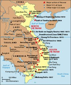 Vietnam War Maps of Bases | Vietnam War: Major Battles.