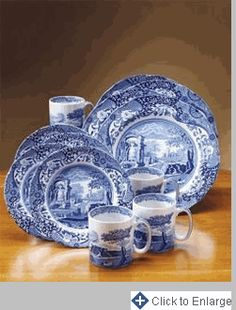 French Blue Bouquet Dinnerware Collection | French blue Dinnerware and Collection & French Blue Bouquet Dinnerware Collection | French blue Dinnerware ...