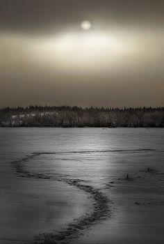 Seinäjoki. Kyrkösjärven eli Kyrkkärin tunnelmia iltahämärissä. Kuva: Paula Korkiamäki