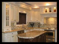 Kitchen Counter Backsplash Ideas wine and coffee area in kitchen, painted white cabinets, typhoon