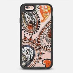 Orange & Black Paisley  - New Standard Case by Yaz Raja Designs   @casetify