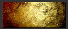 """Abstract Paintings, Contemporary Paintings, Abstract Art, Contemoporary Art, Modern Art  """"Pure Gold"""" by Artist Dora Woodrum http://www.NiceModernArt.com"""