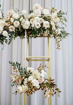 Blush Wedding Flowers, Floral Wedding, Wedding Colors, Wedding Bouquets, Gold Wedding, Dream Wedding, Wedding Dresses, Floral Backdrop, Floral Arch