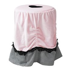 IKEA - SKÄRT, Stool cover, , Can be adjusted to suit stools of different heights.Brings a cozy, romantic look to the room. Perfect as a cover for a stool in front of a dressing table.