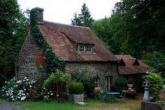elorablue:  Françoise's Cottage,Le Champ-de-la-Pierre, Basse-Normandie, France by noriko.stardust on Flickr.