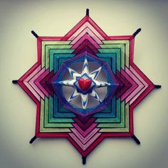 Mandala Ojo de Dios El amor por BeHappyMandalaShop en Etsy