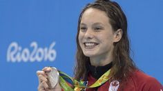 """""""With 4 medals, gold, silver, 2 bronze, Penny Oleksiak becomes greatest Canadian Olympic swimmer in history."""
