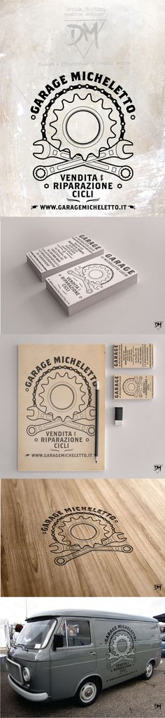 Garage Micheletto - Bike shop logo by Davide Martini, via Behance