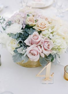 Luxe Table Numbers to Wow ... Gold mirrored table numbers add elegance to any wedding reception // Handcrafted Table Numbers and Event Decor, Gifts & Accessories at www.ZCreateDesign.com or ZCreateDesign on Etsy