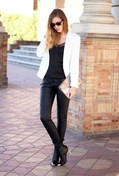 zara blazers vestidos botineslook Street Style Office Looks Ideas Street Style Office Looks Ideas