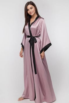 23e0ed8d91d1a Long Silk Bridal Robe