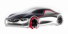 Avant-garde yet pure in design terms - reduced to its bare essentials, with no door handles or mirrors, the Opel GT Concept creates a new expression of driving passion. Opel Gt Concept, Concept Cars, Concept Auto, Bike Sketch, Car Sketch, Design Autos, Car Design Sketch, Car Drawings, Car Tuning