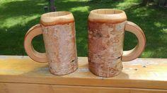 Wooden Beer Mug, Beer Stein, Wood Turning, Birch, Rustic Wedding, Etsy Shop, Mugs, Grooms, Unique Jewelry