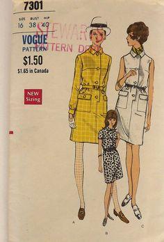Vintage 60's Sewing Pattern Misses Dress by SuzisCornerBoutique, $10.00