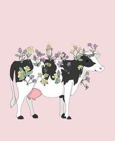 New post on pure-as-the-lilies - Illustration - Vegan Et Wallpaper, Wallpaper Quotes, Vegan Art, Vegan Food, Vegan Quotes, Vegetarian Quotes, Cow Art, Vegan Animals, Animal Tattoos