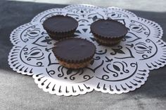 Dark chocolate mini peanut butter cups. Homemade and YES, low FODMAP! woohoo!