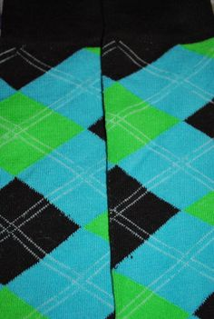 Baby Leg Warmers and Toddler Leg Warmers  - free shipping - blue green and black argyle