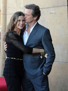 Colin Firth and Livia Giugglioli ( Mrs. Movie Couples, Famous Couples, Colin Firth Mr Darcy, Bridget Jones, Isabel Ii, Richard Gere, John Kennedy, Kingsman, Dream Guy