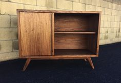 Mid century modern TV console record player bookshelf by MonkeHaus