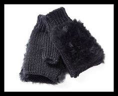FINGERLESS MITTENS WITH FAUX FUR TRIM - - Cosy and warm gloves with a shaggy faux fur top. Fingerless gloves allow dexterity but still keep your fingers toasty. Fingerless Mittens, Shaggy, Fashion Beauty, Style Fashion, Fur Trim, Faux Fur, Stylish, Stuff To Buy, Cosy