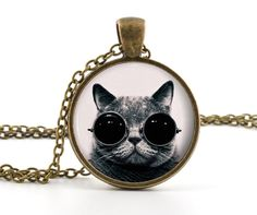 Steampunk Cat Pendant  Cat Necklace  Photo by BazingaJewellery, $13.95