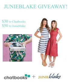 A JUNIEblake and Chatbooks giveaway on Facebook!