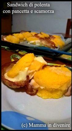 Sandwich+di+polenta+con+pancetta+e+scamorza Polenta, Pancetta, Mamma, French Toast, Sandwiches, Breakfast, Food, Morning Coffee, Essen