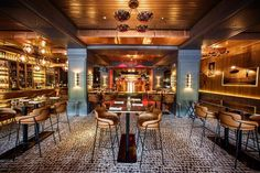 Ilmiodesign, Tatel Restaurant- Madrid, Spain. The interior design takes its inspiration from New York Clubs in the 1920s. Great atmosphere,…