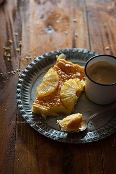 Nina's Kitchen: Tarta de crema y piña confitada