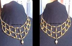 Shamballa Gold Crystal Bib Necklace
