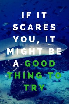 Don't be scared, Go for it!